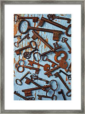 Old Skeleton Keys Framed Print by Garry Gay