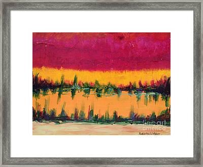 On Golden Pond Framed Print by Kimberlee Weisker