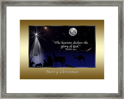 One Night Under Heaven Framed Print by Delores Knowles