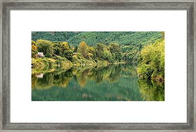 Oregon Green Framed Print by Katie Wing Vigil