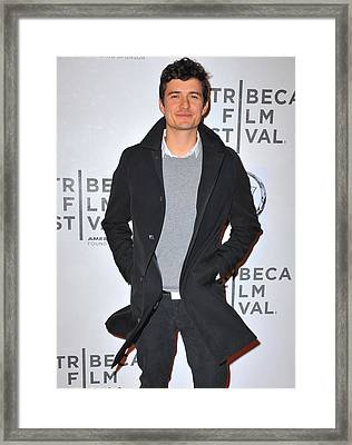 Orlando Bloom At Arrivals For The Good Framed Print by Everett