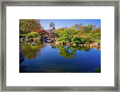 Osaka Japanese Garden Framed Print by Jonah  Anderson
