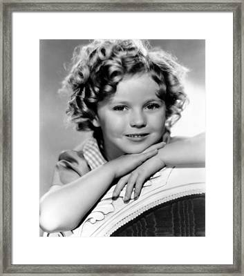 Our Little Girl, Shirley Temple, 1935 Framed Print by Everett