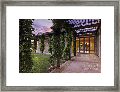 Outdoor Walkway On A Modern Home Framed Print by Jeremy Woodhouse