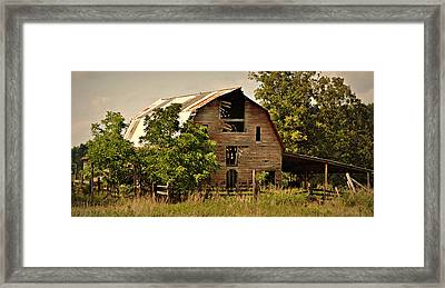 Ozark Barn Framed Print by Marty Koch