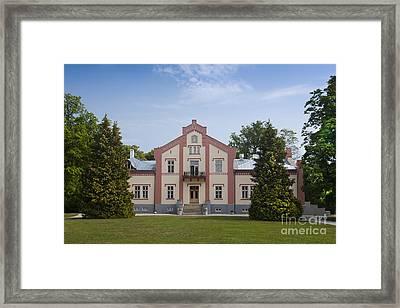 Pädaste Manor On Muhu Island Framed Print by Jaak Nilson