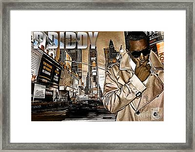 P Diddy Framed Print by The DigArtisT