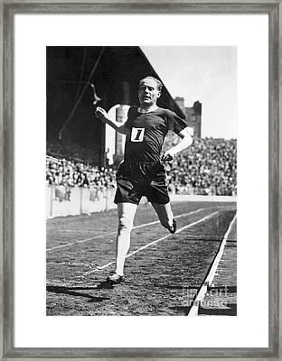Paavo Nurmi (1897-1973) Framed Print by Granger