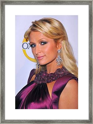 Paris Hilton At A Public Appearance Framed Print by Everett