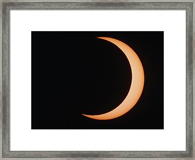 Partial Phase Of An Annular Eclipse (10/5/94) Framed Print by Dr Fred Espenak