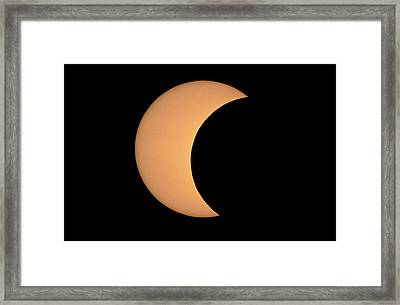 Partial Phase Of An Annular Eclipse (10/may/1994) Framed Print by Dr Fred Espenak