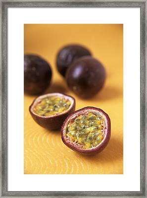 Passion Fruit Halves Framed Print by Veronique Leplat