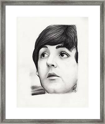 Paul Mccartney Framed Print by Rosalinda Markle