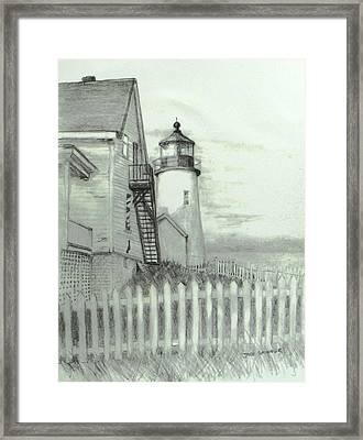 Pemaquid Lighthouse  Framed Print by Jack Skinner