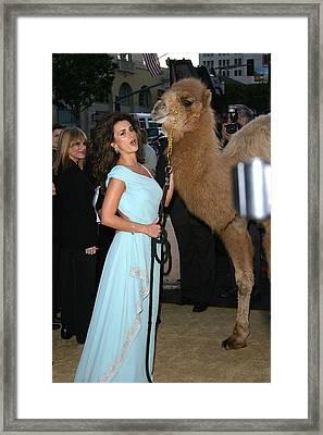 Penelope Cruz, Camel At Arrivals Framed Print by Everett