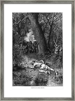 Philip (metacomet) Framed Print by Granger