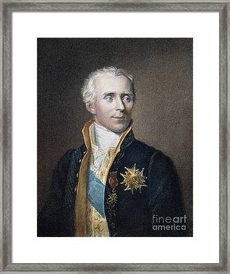 Pierre-simon De Laplace Framed Print by Granger