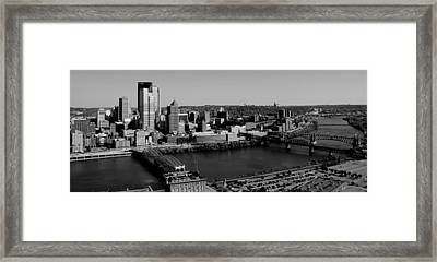 Pittsburgh In Black And White Framed Print by Michelle Joseph-Long