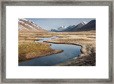 Plateau Kumtor Framed Print by Konstantin Dikovsky