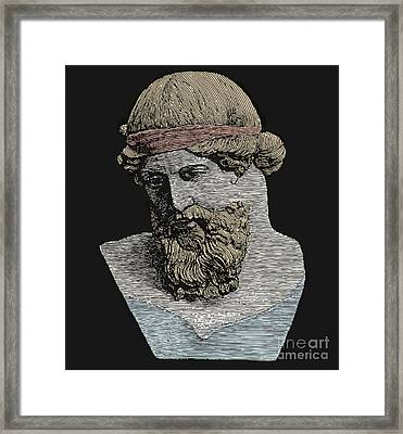 Plato, Ancient Greek Philosopher Framed Print by Science Source