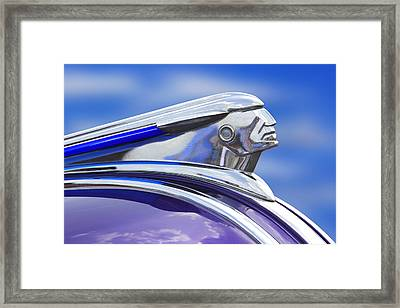 Pontiac Hood Ornament  Framed Print by Mike McGlothlen
