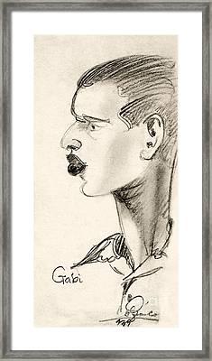 Portrait Framed Print by Odon Czintos