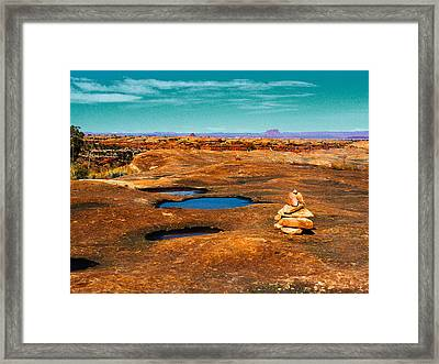 Pothole Point Framed Print by Sean  Eckel