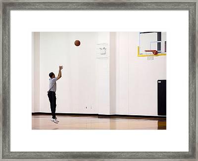 President Barack Obama Warms Framed Print by Everett