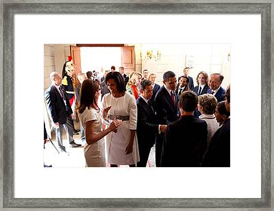 President Obama And French President Framed Print by Everett