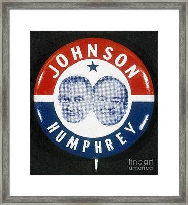 Presidential Campaign, 1964 Framed Print by Granger