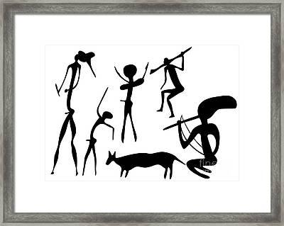 Primitive Art - Various Figures Framed Print by Michal Boubin