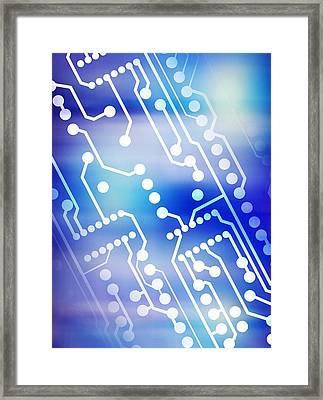 Printed Circuit Board Framed Print by Pasieka