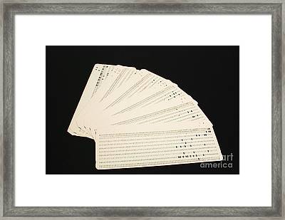 Punch Cards Framed Print by Photo Researchers, Inc.