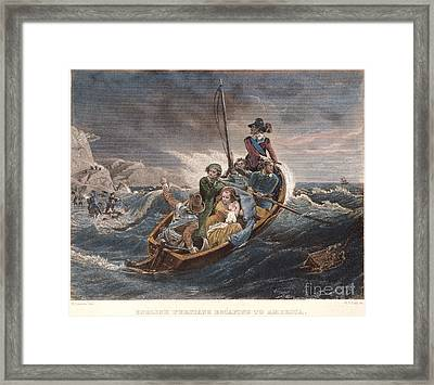 Puritan Fugitives Framed Print by Granger