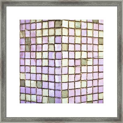 Purple Tiles Framed Print by Tom Gowanlock