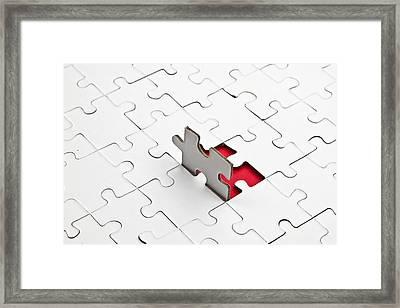 Puzzle Framed Print by Joana Kruse