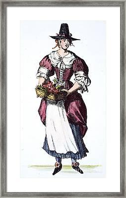 Quaker Woman 17th Century Framed Print by Granger