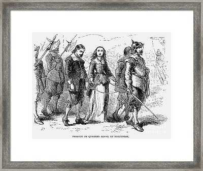 Quakers: Mary Dyer, 1659 Framed Print by Granger