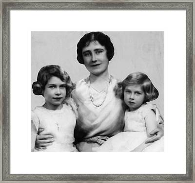 Queen Mother Elizabeth Center Framed Print by Everett