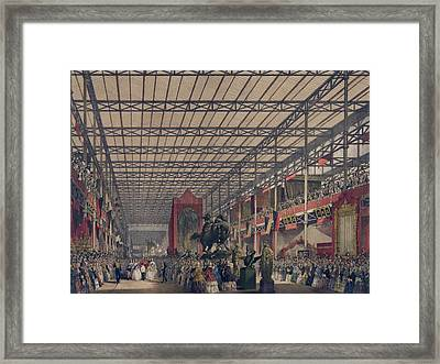 Queen Victoria With Prince Consort Framed Print by Everett