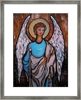 Raphael Archangel Framed Print by Pristine Cartera Turkus