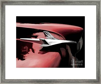 Red Chevy Jet Framed Print by Douglas Pittman