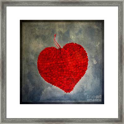 Red Heart Framed Print by Bernard Jaubert