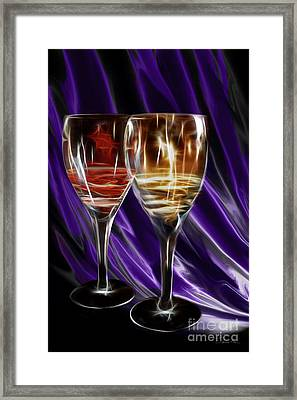 Red Or White Framed Print by Danuta Bennett