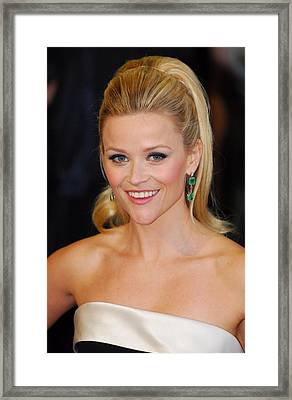Reese Witherspoon At Arrivals For The Framed Print by Everett