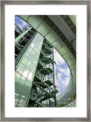 Refinery Detail Framed Print by Carlos Caetano