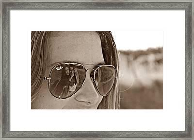 Reflected Friends Framed Print by Jenny Senra Pampin