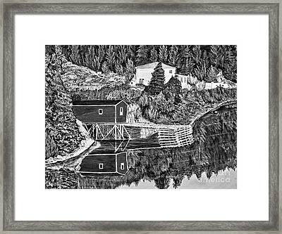 Reflections B W Framed Print by Barbara Griffin