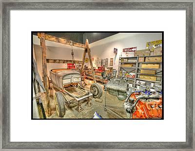 Repair Shop Framed Print by Martin Fine