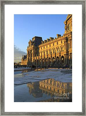 Richelieu Wing Of The Louvre Museum In Paris Framed Print by Louise Heusinkveld